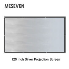 "120""16:9 Perfect Daylight Gray Silver Projection Screen Use for 3D DLP Projector"