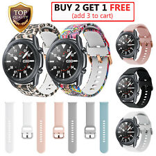 For Samsung Galaxy Watch 3 41mm/45mm,Active 2 40/44mm Sport Silicone Band Strap