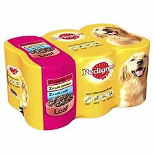 Pedigree Dog Food Cans Meat Selection in Loaf, 6 x 400g