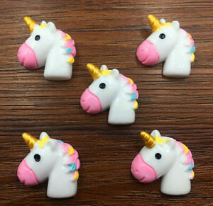 DIY 5pcs Unicorn Flatback Resin Cabochon Scrapbooking/Crafts @DJSSZ-30