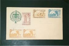 Paraguay 1955 Misiones Series FDC / Ding on Lower Right Stamp - Z3574