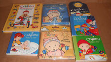 Lot of 7 Caillou Board & Cloth Books NEW