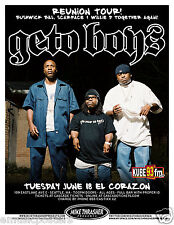 Geto Boys 2013 Seattle Concert Tour Poster - Bushwick Bill, Scarface & Willie D