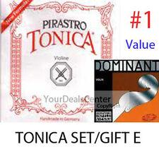 Tonica Violin String Set Steel E/ Gift Dominant E Ball