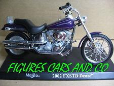 MOTO 1/18  HARLEY DAVIDSON  1450cc FXSDT DEUCE 2002