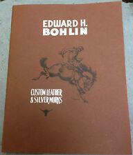 Very Rare Original Edward H. Bohlin Custom Leather & Silver Works Sales Catalog