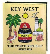 KEY WEST FLORIDA  MAP EMBOSSED PHOTO ALBUM 100 PHOTOS/ 4x6