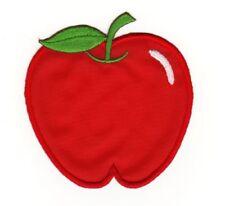 Applikation zum Aufbügeln Apfel mit Wurm #72282