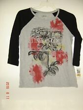 Style&CO ladies Grey Sport TOP SZ M 100% C0TTON