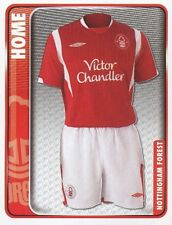 200 HOME KIT ENGLAND NOTTINGHAM FOREST STICKER FL CHAMPIONSHIP 2010 PANINI