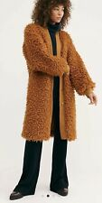 NWT Free People Mongolian Faux Fur Coat Cardi  Toffee $298 XS