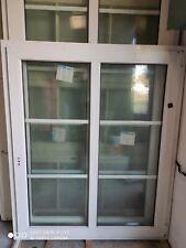 Kunststofffenster Fenster 119x146 cm, weiß, innenliegende Sprossen einflüglig