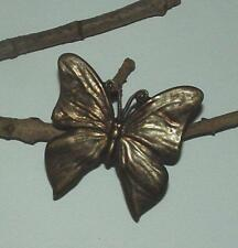 VINTAGE ANTIQUED BRONZE TONE BUTTERFLY BROOCH