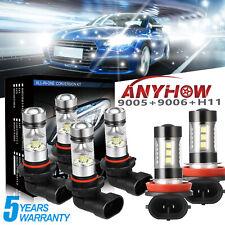 9005+9006+H11 6000K 5415W 812250LM Combo CREE LED Headlight Sets Hi Low Bulb