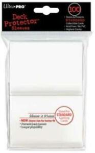 100 x Ultra Pro Full-Size Large Card WHITE SLEEVES Deck Protectors Magic Pokemon