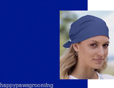 "XL ROYAL BLUE Solid SUPER-SIZE Bandana 27""Head WRAP COTTON Bandanna Scarf Scarve"