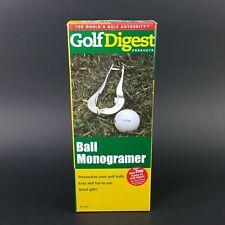 New Golf Digest,  ball Monogrammer Marker, hand held Metal, Print error on Box