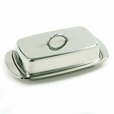 Norpro 282 Stainless Steel Double Covered Butter Dish, Silver , New, Free Shippi