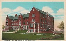 Lucina Hall Ball's Teachers College Muncie IN Postcard 1932