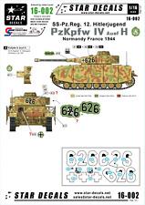Star Decals 16-002,Decals for PzKpfw IV Ausf H - SS-Pz-Reg.12 Hitlerjugend, 1:16