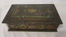 Vintage Schraffts Chocolate Metal Tin Hinged Lid