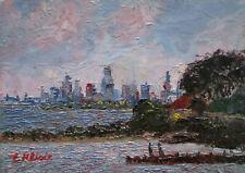 Oil Painting Australian Artist Enoch Hlisic Original Impressionist MELBOURNE