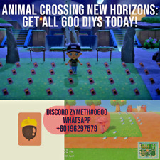 Animal Crossing New Horizons 600 DIY Full & Complete Recipe
