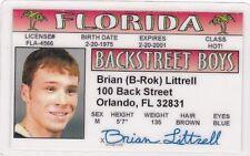 Brian Littrell b-rok of the Backstreet Boys Drivers License - Back Street Boys