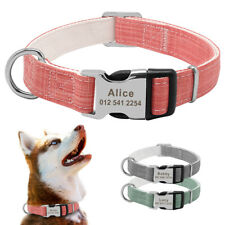 Customized Pet Dog Collar Fresh Color Engraved ID Name Plate for Small Large Dog