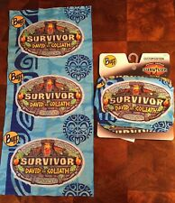 SURVIVOR BUFFS: David vs Goliath BLUE MERGE Kalokalo Tribe Buff - New On Display