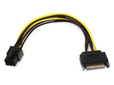 8inch SATA 15pin to 6pin PCI Express Card Power Cable