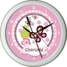 Personalized Sugar Plum Nursery Bedding Wall Clock Girl Decr Gift