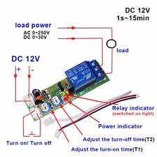 DC 12V Zeitrelais Timing Timer Delay Relay ON OFF Module 15 min DE