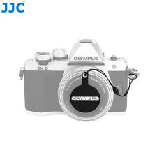 JJC Leather Stickup Lens Cap Keeper Anti-lost Cover for Olympus LC-37B Lens Cap