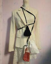 leather red belt bag pouch coin purse A F. VANDEVORST tassel upcycled vintage