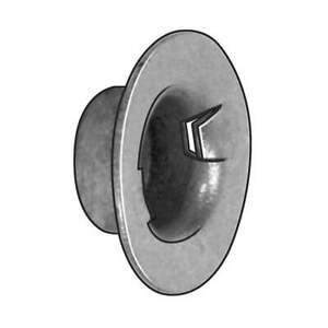 GRAINGER APPROVED 228911004 Push On Cap Nut,Washer,Stl,1/4 In,PK100