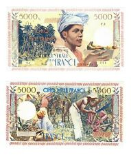 - Paper Reproduction -  Guadeloupe 5000 francs 1960    150