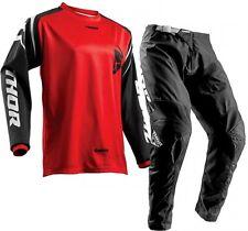 2018 42 XXXL Thor Sector Zones Red Jersey Pant Kit Motocross Enduro