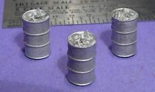 S SCALE Sn3 1/64 WISEMAN MODEL SERVICES DETAIL PARTS: S428 55 GALLON TRASH DRUMS