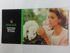 ROLEX product pamphlet 1987 USA