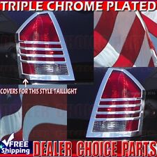 2005-2007 CHRYSLER 300 300C Chrome ABS Tail Light Lamp Bezel Covers Trim Overlay