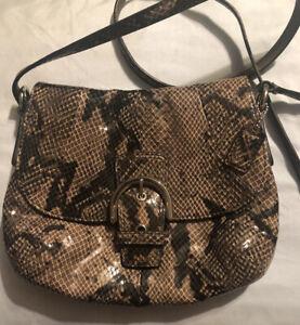 Authentic Coach Rare Soho Flap Snakeskin Embossed Crossbody Bag EUC