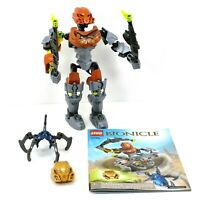 LEGO Bionicle Pohatu Master of Stone Set 70785 Complete with Instructions No Box