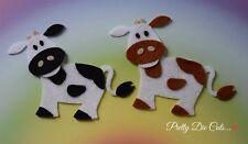 Felt Cows (pack of 2) Die Cut Farm Animal Craft Embellishments