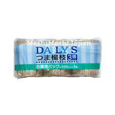 500 Japanese Wooden Toothpicks Dental Care