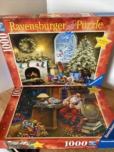 """Ravensburger 2010 """"Not A Creature Was Stirring"""" & 2013 """"Mapping The Course"""" LTD"""