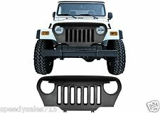 Matte Black Angry Bird Grill For 1997-2006 Jeep Wrangler TJ New Free Shipping