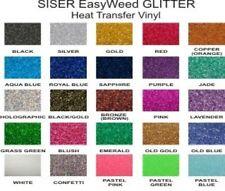 """8"""" x 12"""" BLACK Glitter SISER Easy Weed HEAT TRANSFER Vinyl  IRON ON"""