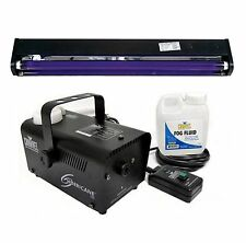 "CHAUVET Hurricane H700 Fog Machine H-700 Fogger + AMERICAN DJ 24"" UV Blacklight"