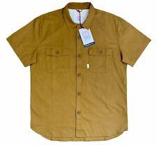 Topo Designs Men's NWT Field Shirt Khaki Short Sleeve Cotton Button Down - M, L